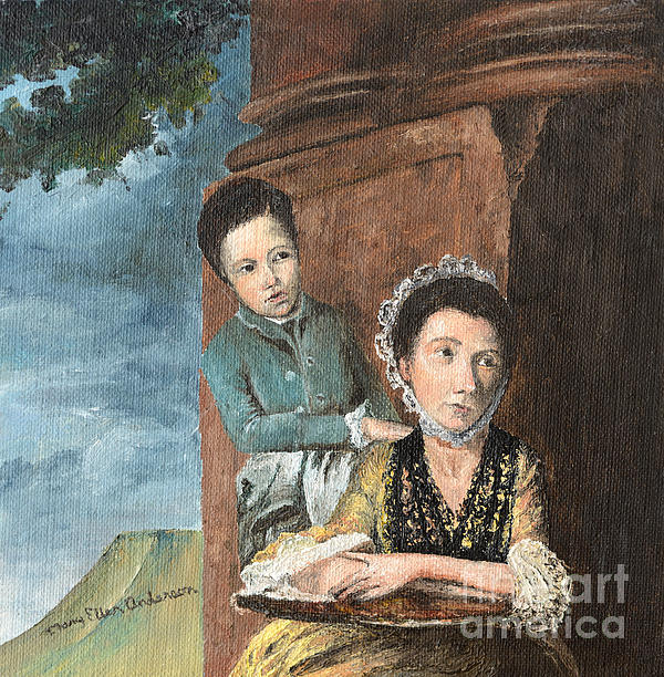 Vintage Mother And Son Print by Mary Ellen Anderson