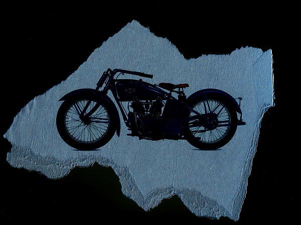 Vintage Motorcycle Print by David Ridley