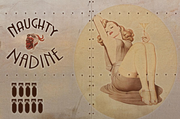 Cinema Photography - Vintage Nose Art Naughty Nadine