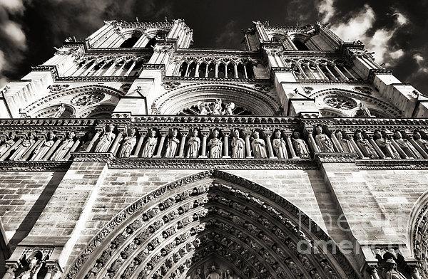 Vintage Notre Dame Print by John Rizzuto