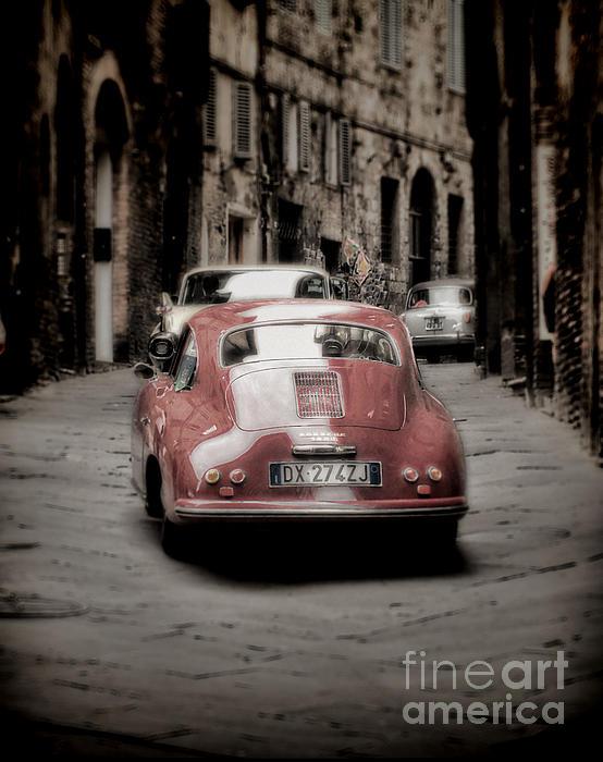 Vintage Porsche Print by Karen Lewis