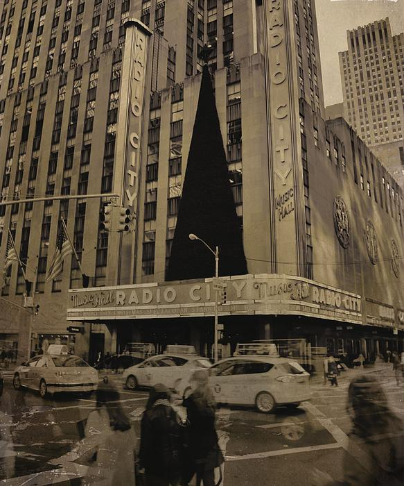 Vintage Radio City Music Hall Print by Dan Sproul