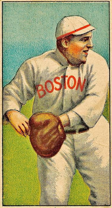 Vintage Red Sox Print by Benjamin Yeager