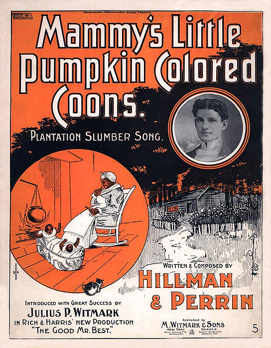 Vintage Sheet Music Cover Circa 1896 Print by M Witmmark and Sons