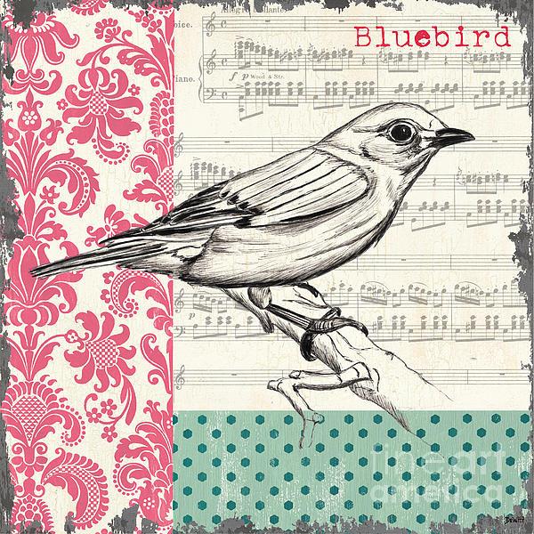 Vintage Songbird 1 Print by Debbie DeWitt