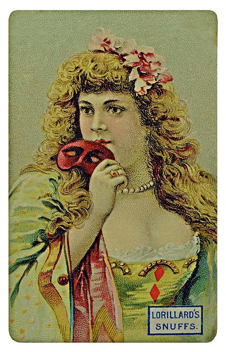Vintage Tobacco Or Cigarette Card Print by Susan Leggett