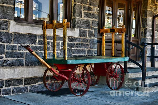 Vintage Train Baggage Wagon Print by Paul Ward