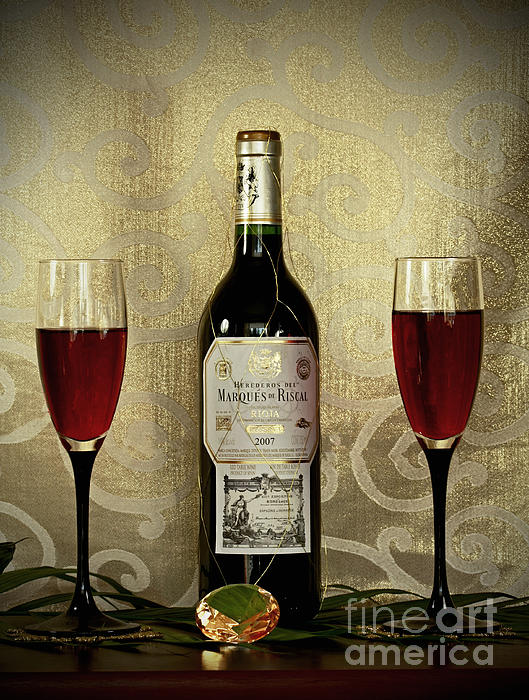 Vintage Wine Lovers Print by Inspired Nature Photography By Shelley Myke