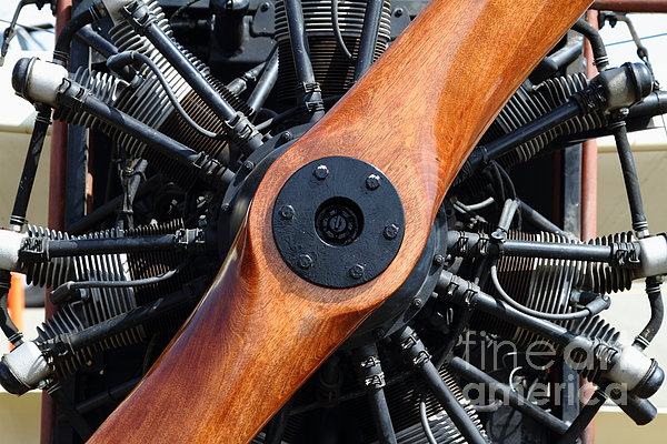 Vintage Wood Propeller - 7d15828 Print by Wingsdomain Art and Photography