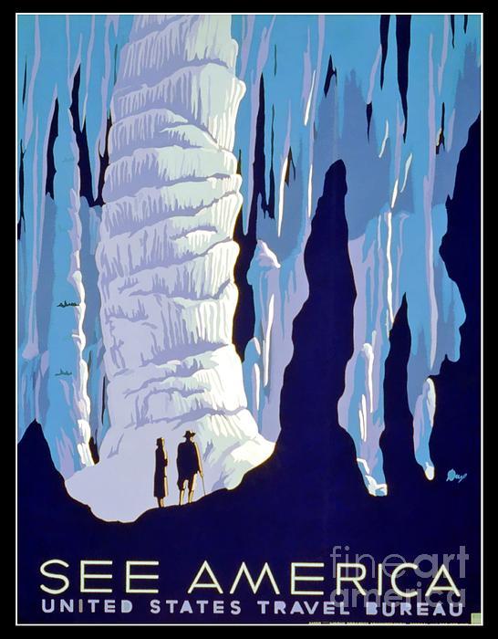 Vintage Wpa Poster See America Print by Wpa