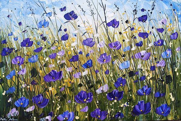 Violet Poppifield Print by Jolina Anthony