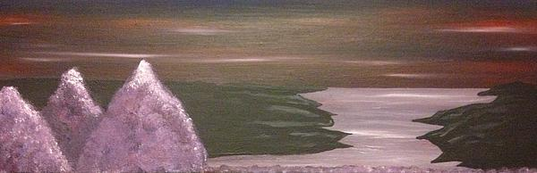 Violet Sea Print by Scott Wilmot