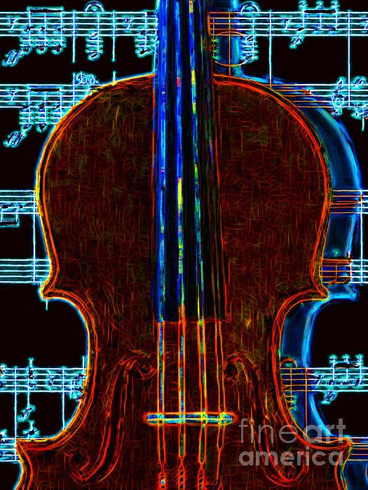 Violin - 20130128v1 Print by Wingsdomain Art and Photography