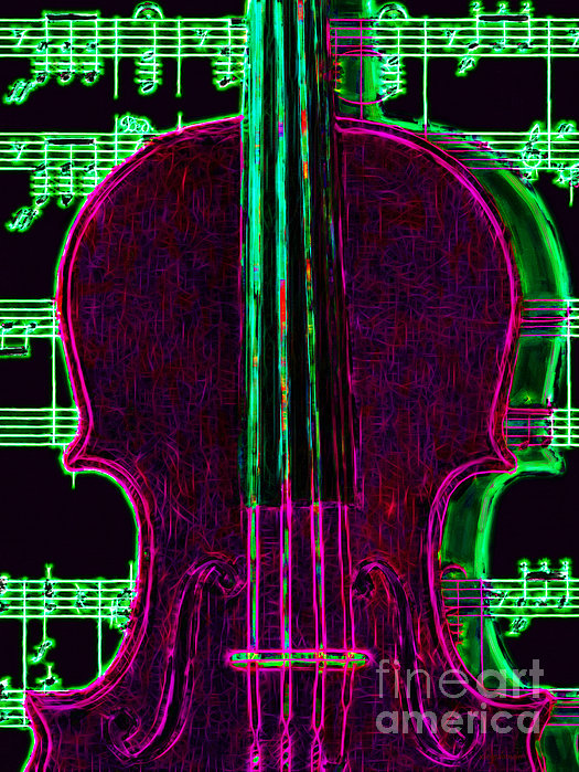Violin - 20130128v2 Print by Wingsdomain Art and Photography