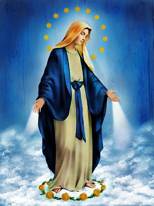 Virgen Milagrosa Print by Bibi Romer