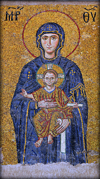 Virgin Mary And Christ Child Print by Stephen Stookey