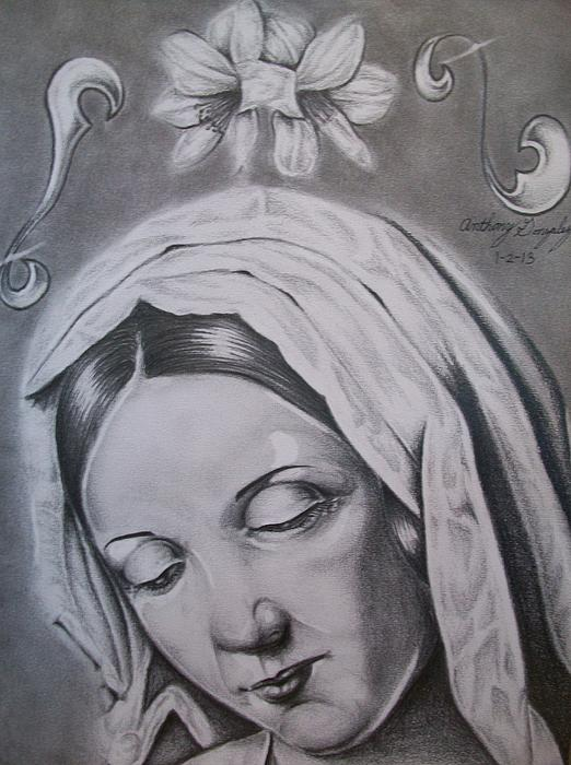 Virgin Mary Print by Anthony Gonzalez