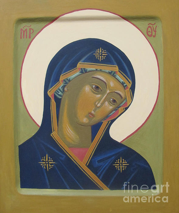 Virgin Mary Icon Print by Seija Talolahti