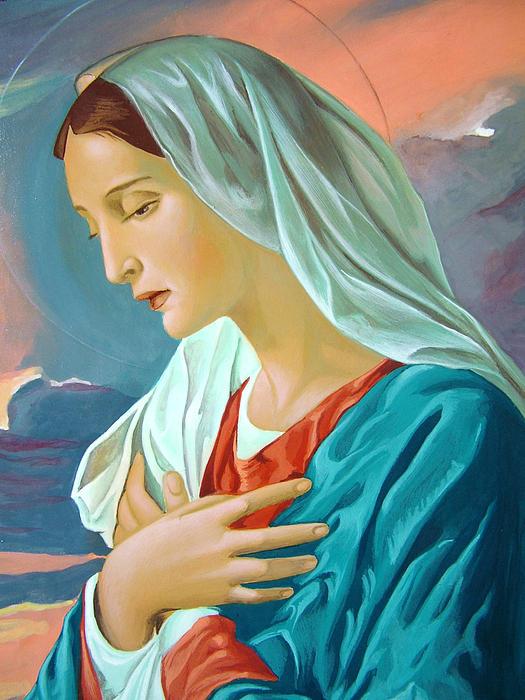 Virgin Mary Print by Janeta Todorova