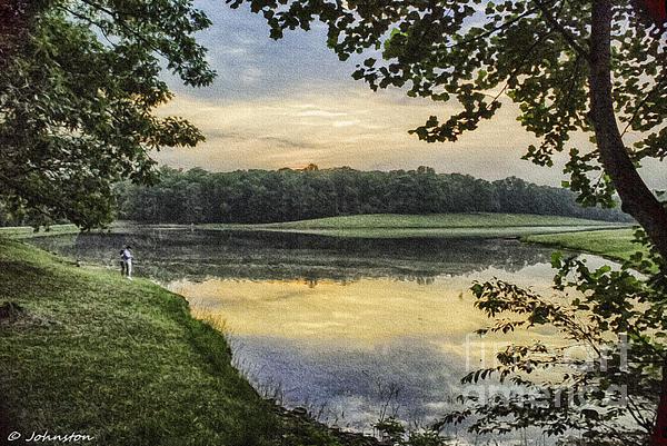 Virginia Lynchburg Thousand Trails Sunset Print by  Bob and Nadine Johnston