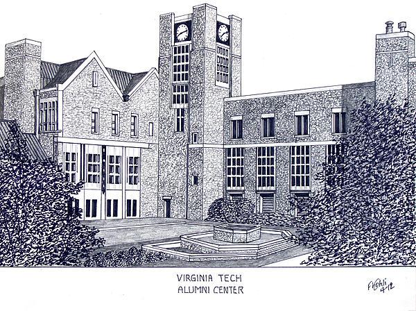 Virginia Tech Print by Frederic Kohli