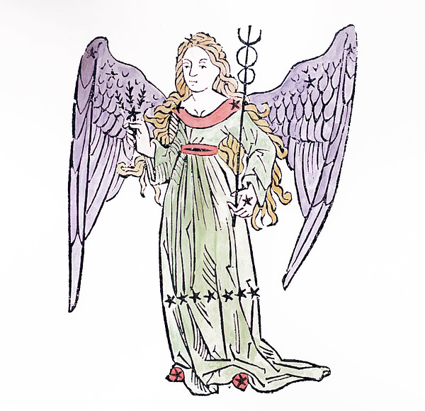 Virgo An Illustration From The Poeticon Print by Italian School