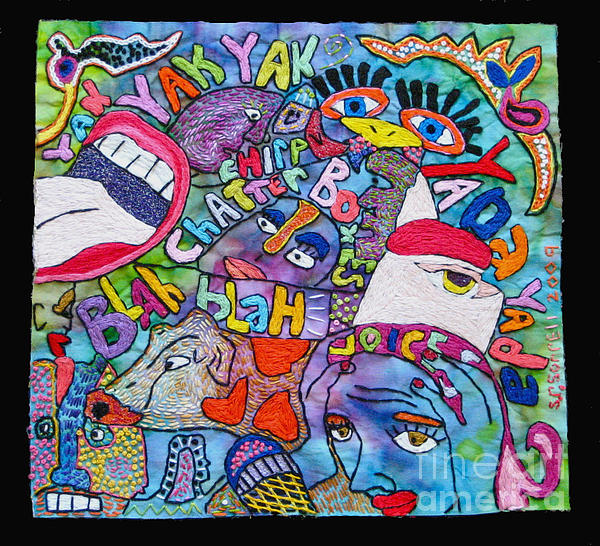 Voices In My Head Print by Susan Sorrell