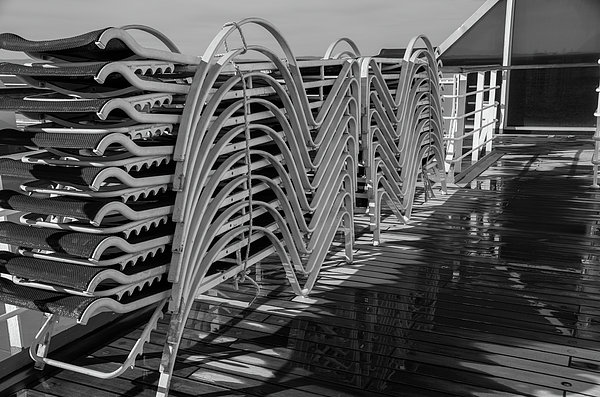 Marilyn Wilson - Stacked Lounge Chairs - bw