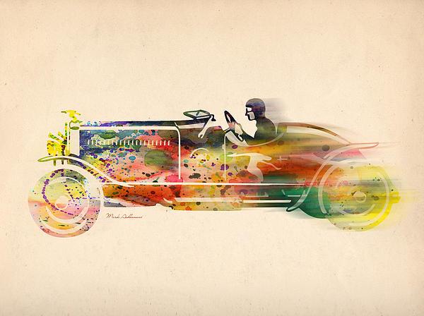 Volkswagen Print by Mark Ashkenazi