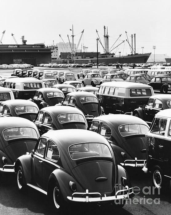 Volkswagen Shipment Print by M E Warren