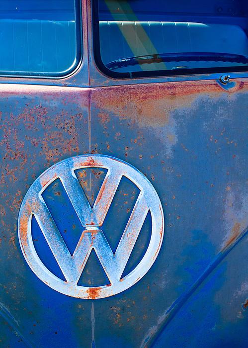 Volkswagen Vw Bus Emblem Print by Jill Reger