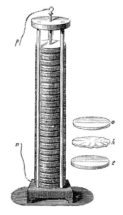 Voltaic Pile, 1800 Print by Granger