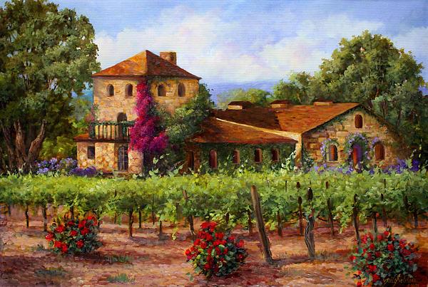 V.sattui  Winery Revisited  Print by Gail Salituri