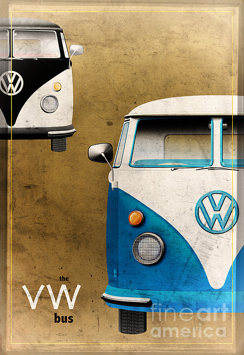 Vw The Bus Print by Tim Gainey