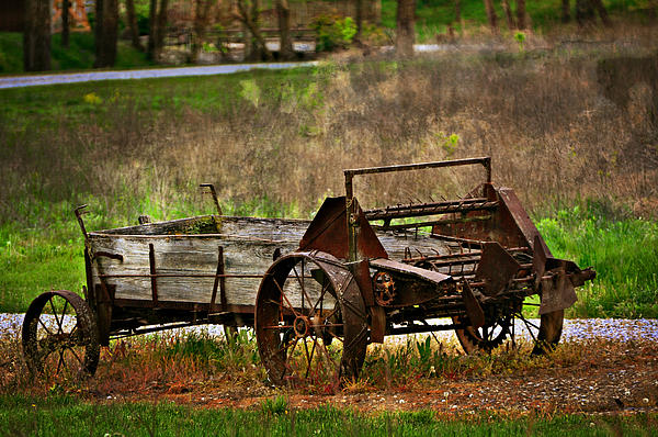 Wagon Print by Marty Koch