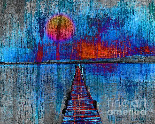 Walk On Water 03 Print by Edmund Nagele