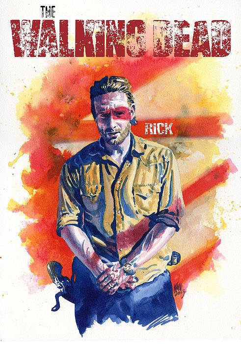 Walking Dead Rick Print by Ken Meyer jr