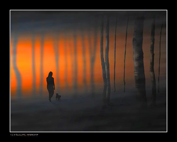 Walking Kurt Print by Pedro L Gili