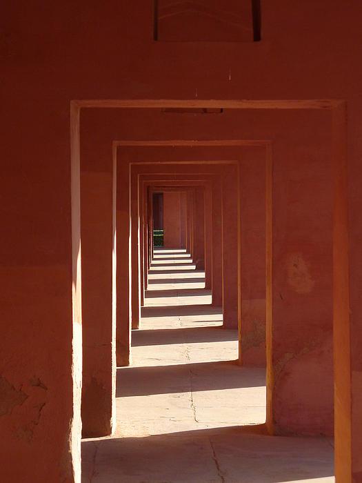 Walkway By The Taj Print by Bill Mock