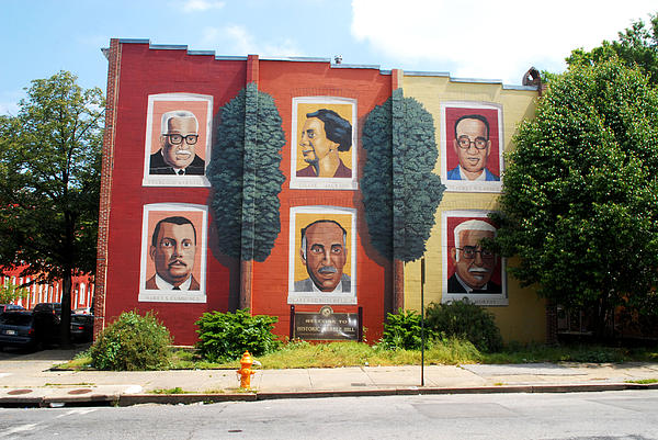 Baltimore's Wall Of Leadership Print by Walter Oliver Neal
