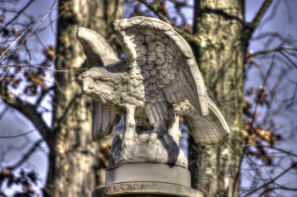 War Eagles - Vermont Company F 1st U. S. Sharpshooters-a1 Pitzer Woods Gettysburg Print by Michael Mazaika
