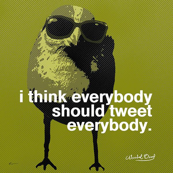 Warhol Tweeting Bird Print by Anthony Ross