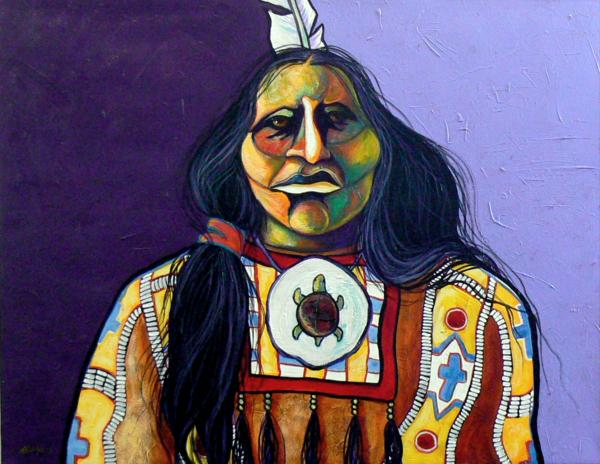 Warrior chief print by joe triano