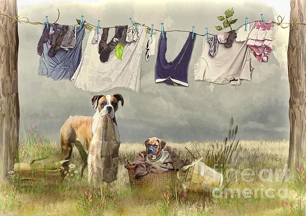 Wash Day Print by Trudi Simmonds