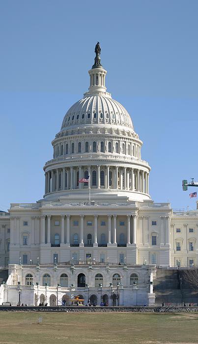 Washington Dc - Us Capitol - 01131 Print by DC Photographer