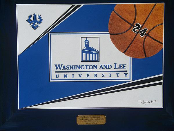 Washington Lee Univ. Basketball Print by Herb Strobino
