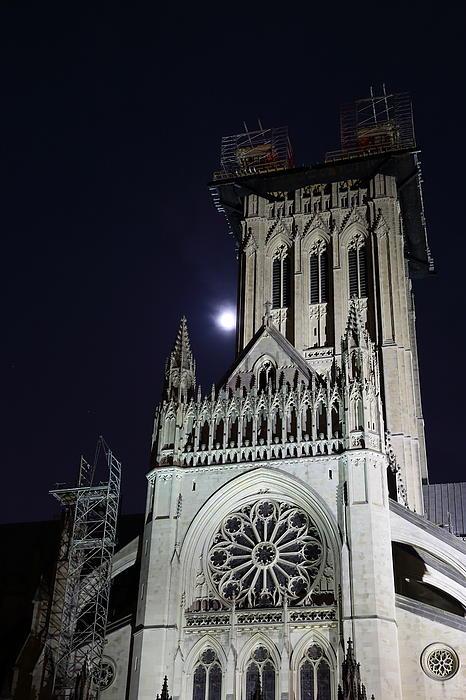 Washington National Cathedral - Washington Dc - 0113113 Print by DC Photographer