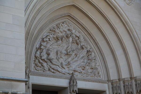 Washington National Cathedral - Washington Dc - 0113118 Print by DC Photographer