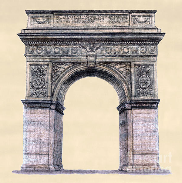 Washington Square Arch New York City Print by Gerald Blaikie