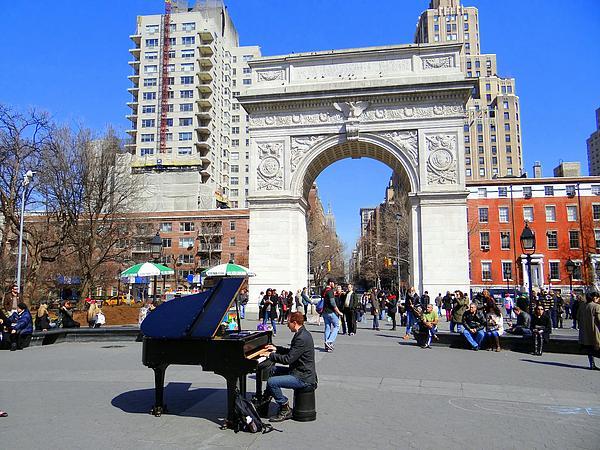 Washington Square Pianist Print by Ed Weidman
